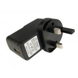 Mains to USB Adapter / Wall Plug 1 Amp (UK / Irish )